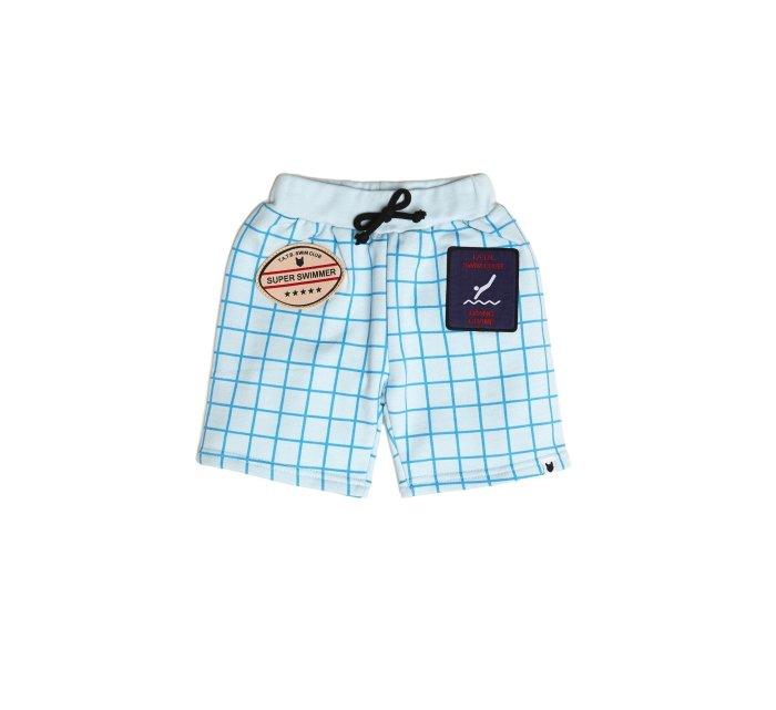 I can swim Badge shorts-SHORTS-Tobias and the Bear-4-5 YRS-jellyfishkids.com.cy
