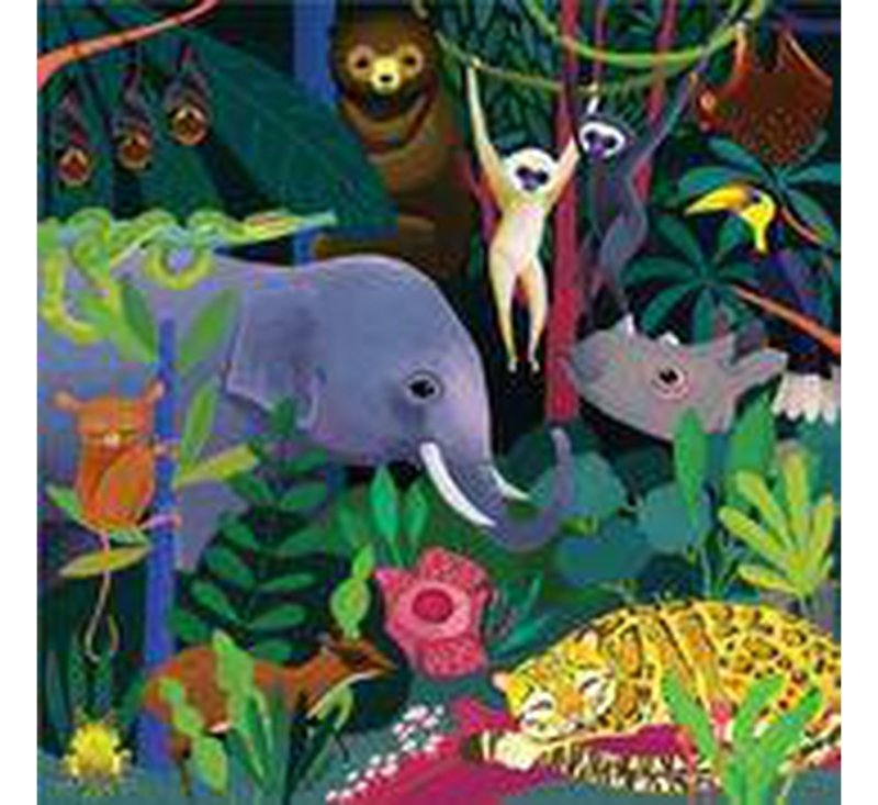 Jungle - Illuminated Glow In The Dark Family Puzzle-Puzzle-MUDPUPPY-jellyfishkids.com.cy