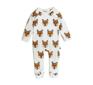 Just Call me Fox Romper (classic print)-BODYSUIT-Tobias and the Bear-0-3 mths-jellyfishkids.com.cy