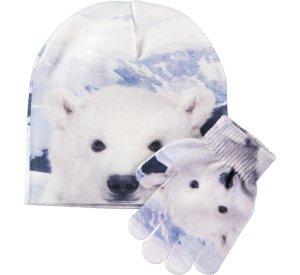 Kaya Baby Polar Bear Hat & Gloves Set-Accessories-MOLO-S/M-jellyfishkids.com.cy
