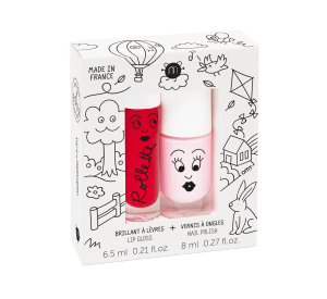 Kids Cottage - Rollette Nail Polish Duo Set-Nailpolish & Lip gloss set-Nailmatic-jellyfishkids.com.cy