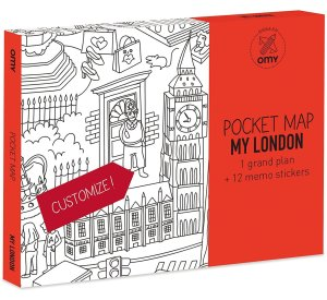 My London Coloring Pocket Maps-Coloring Pocket Maps-OMY-jellyfishkids.com.cy