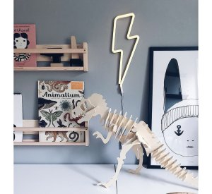 Neon Style Light - LIGHTENING BOLT - yellow-Light-A Little Lovely Company-jellyfishkids.com.cy