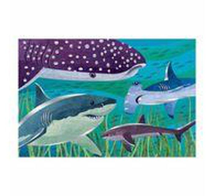 Sharks Foil Puzzle-Puzzle-MUDPUPPY-jellyfishkids.com.cy