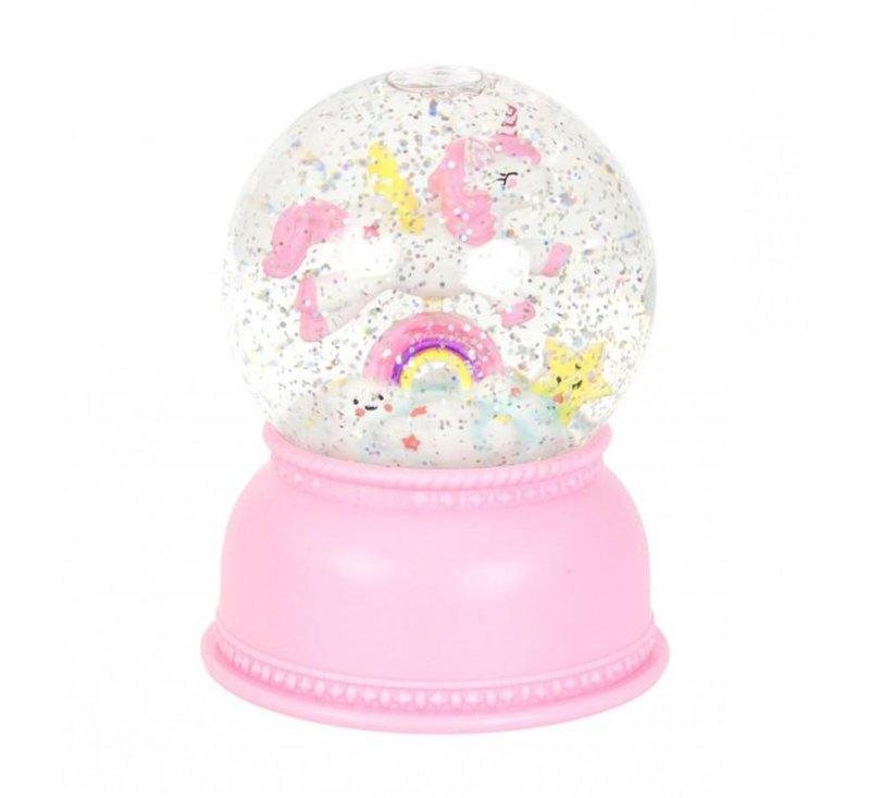 Snow globe - Unicorn-Light-A Little Lovely Company-jellyfishkids.com.cy