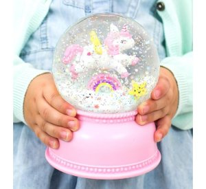 Snow globe - Unicorn-Light-A Little Lovely Company-jellyfishkids.com.cy