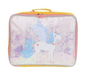 Suitcase Glitter - Unicorn-Storage Bag-A Little Lovely Company-jellyfishkids.com.cy