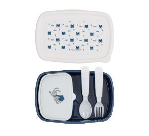 Superhero Lunch Box w/Cutlery, Blue-Lunchbox-Bloomingville-jellyfishkids.com.cy