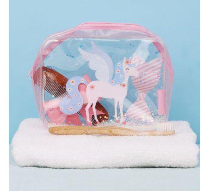 Toiletry Bag - Unicorn-Bag-A Little Lovely Company-jellyfishkids.com.cy