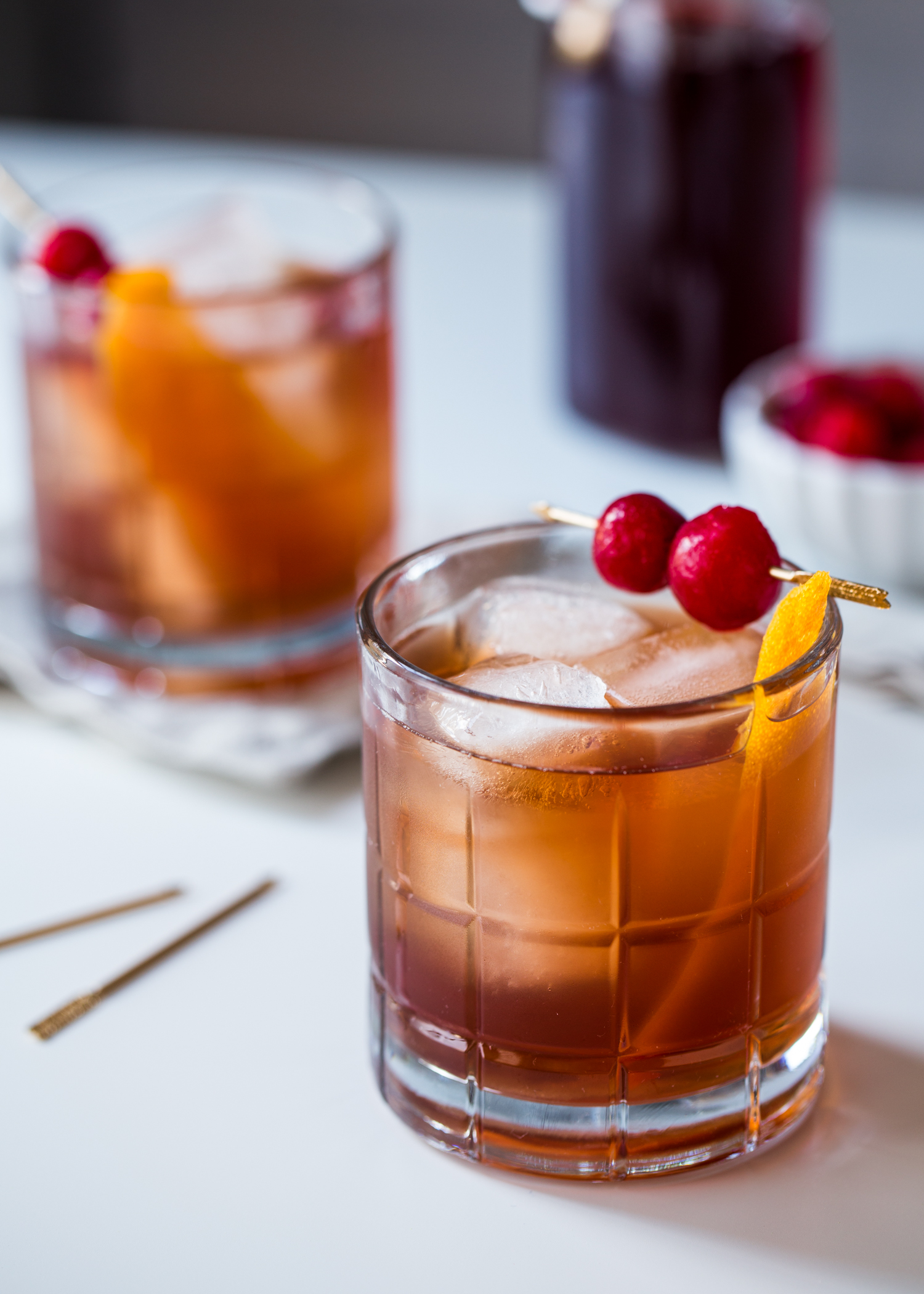 Tart Cherry Old Fashioned   Jelly Toast Tart Cherry Old Fashioned cocktails are perfect for Valentine s Day