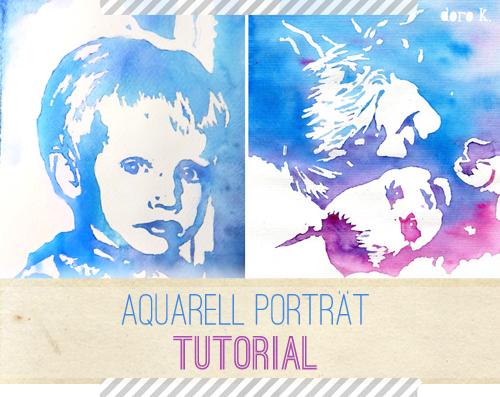 so kannst auch du ein aquarell porträt malen  doro kaiser