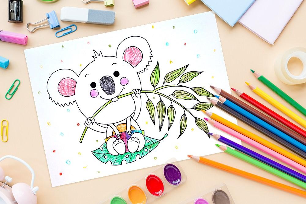 Titel Ausmalbild Koala