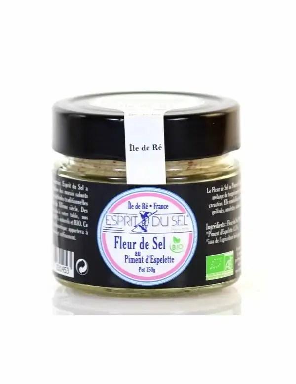 fleur de sel au piment d espelette pot de 150 g