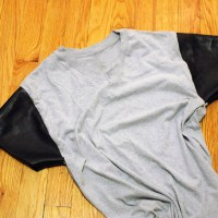 DIY: Zara leather sleeved T-shirt!