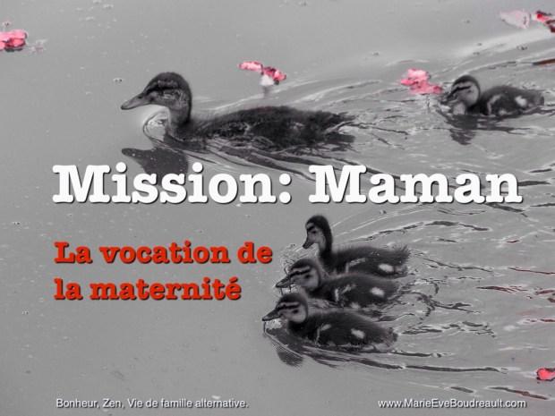 Mission: Maman à la maison, la vocation de la maternité, image et article d'un livre blogué sur le site de Marie-Eve Boudreault, auteure