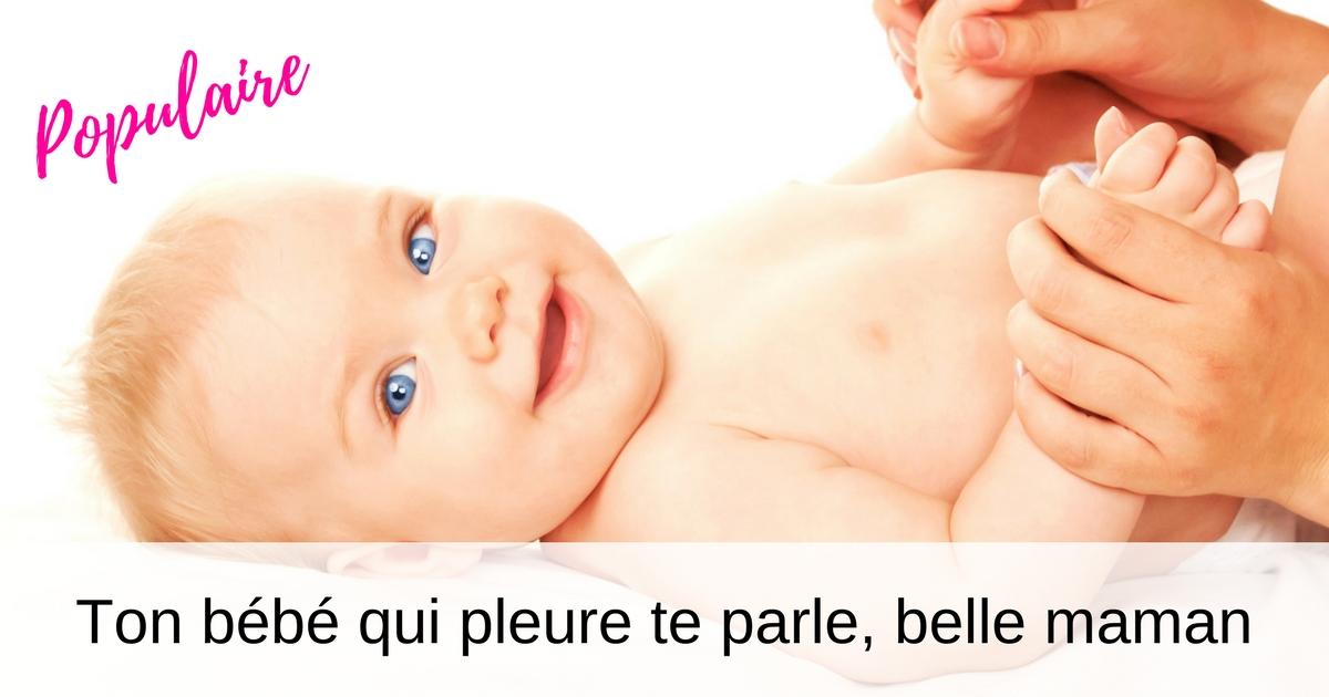 Ton bébé te parle, belle maman