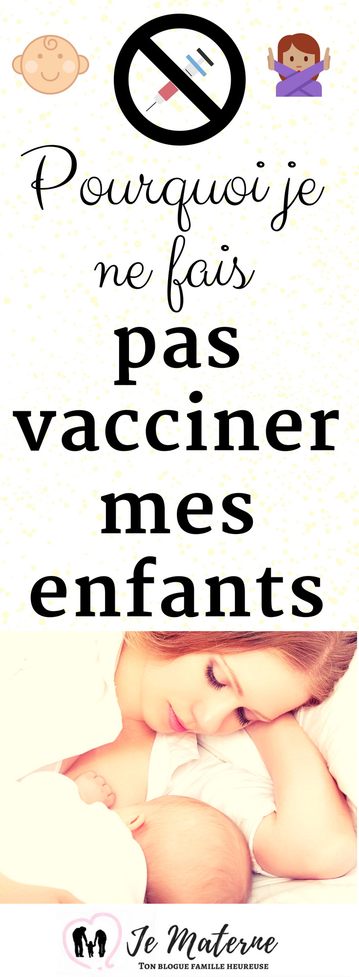 À LIRE ABSOLUMENT! Pourquoi je ne fais pas vacciner mes enfants - Lis tout cet article important sur https://jematerne.com/2017/04/12/vaccination-dangers-vaccins-pourquoi-je-ne-fais-pas-vacciner-mes-enfants #vaccination #immunisation #bébé #enfant #famille