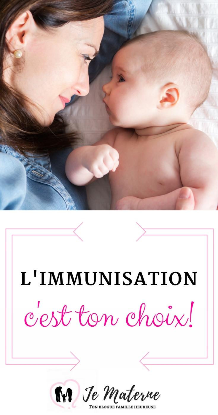 À LIRE! L'immunisation, c'est TON choix! Comment faire son choix face à la vaccination - Clique sur l'image ou visite https://www.pinterest.ca/pin/210613720059561689 #parent #maman #bébé #vaccins