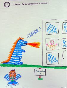 Attaque de tyrannosaure