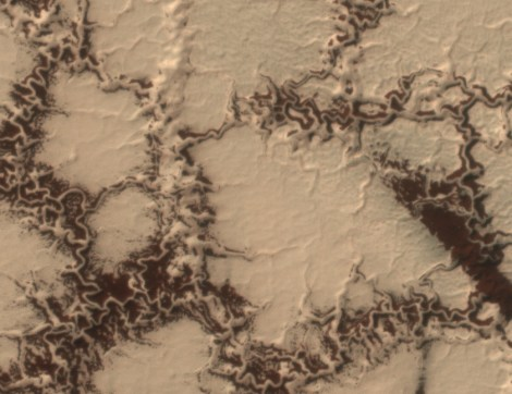 Mars mapping - dust pockets