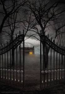 scary gate Halloween Flashback Friday