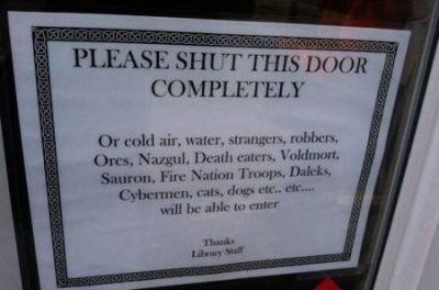 #FridayFlash Fiction   Who Left the Door Open?