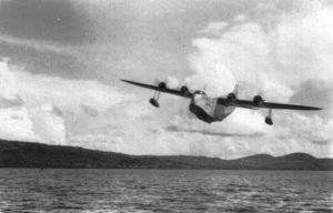 flying boat at Lindi