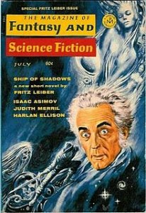 cover of Fantasy & SF magazine with Fritz Lieber portrait