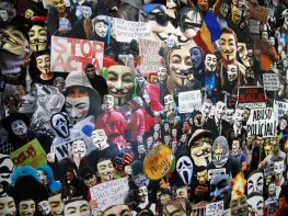 PTCC_Visual Resistance (Guy Fawkes Mask, V for Vendetta, Anonymous, Occupy Movement…)(detail)_Collage_200x150cm