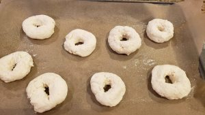 making the two ingredient bagels