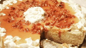 caramel pecan cheesecake is the best cheesecake recipe and makes a great holiday dessert idea for your family party. Pair it with a creamy dessert martini and look like a rockstar host or hostess