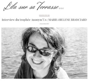 Interview Trophee Anonymus Lila sur sa Terrasse