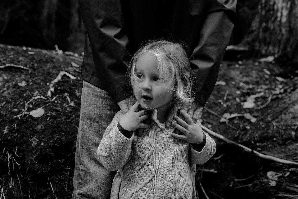 Family photography with young children in Golden BC