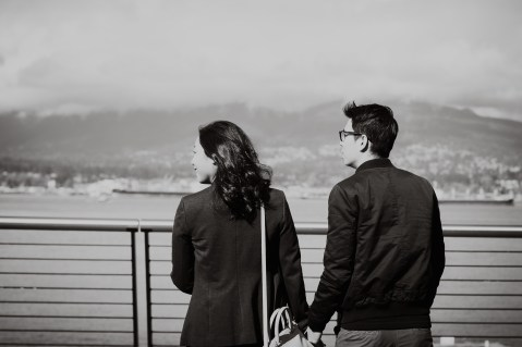 vancouver bc, engagement photographer, wedding photographer, love, couple, adventure, waterfront, olympic village