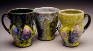 cups 2004, earthenware, decals