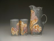 pitcher and tumblers 2008, porcelain