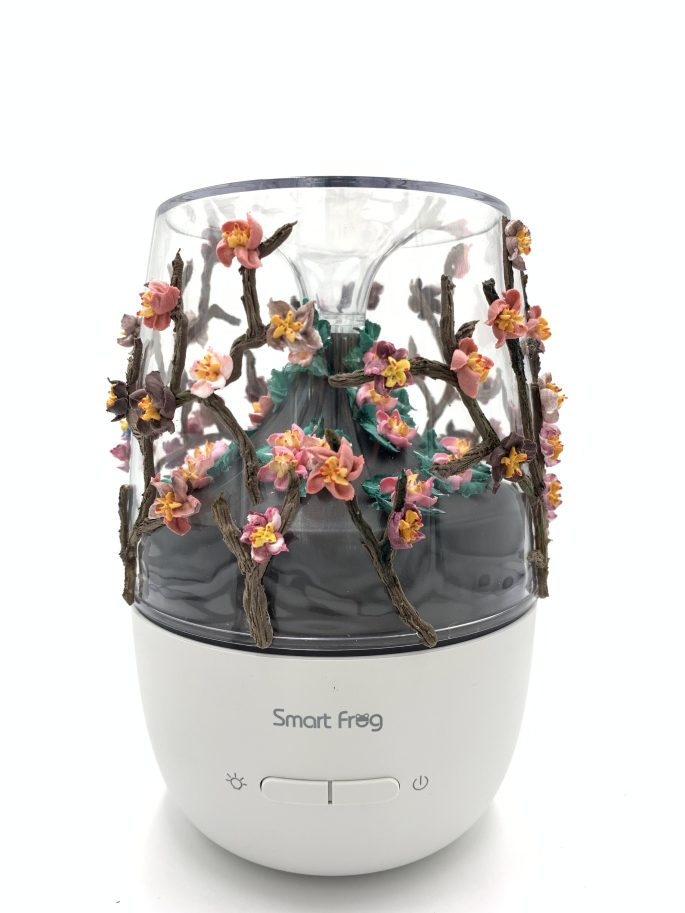 Clay Cream Flower Aroma Diffuser