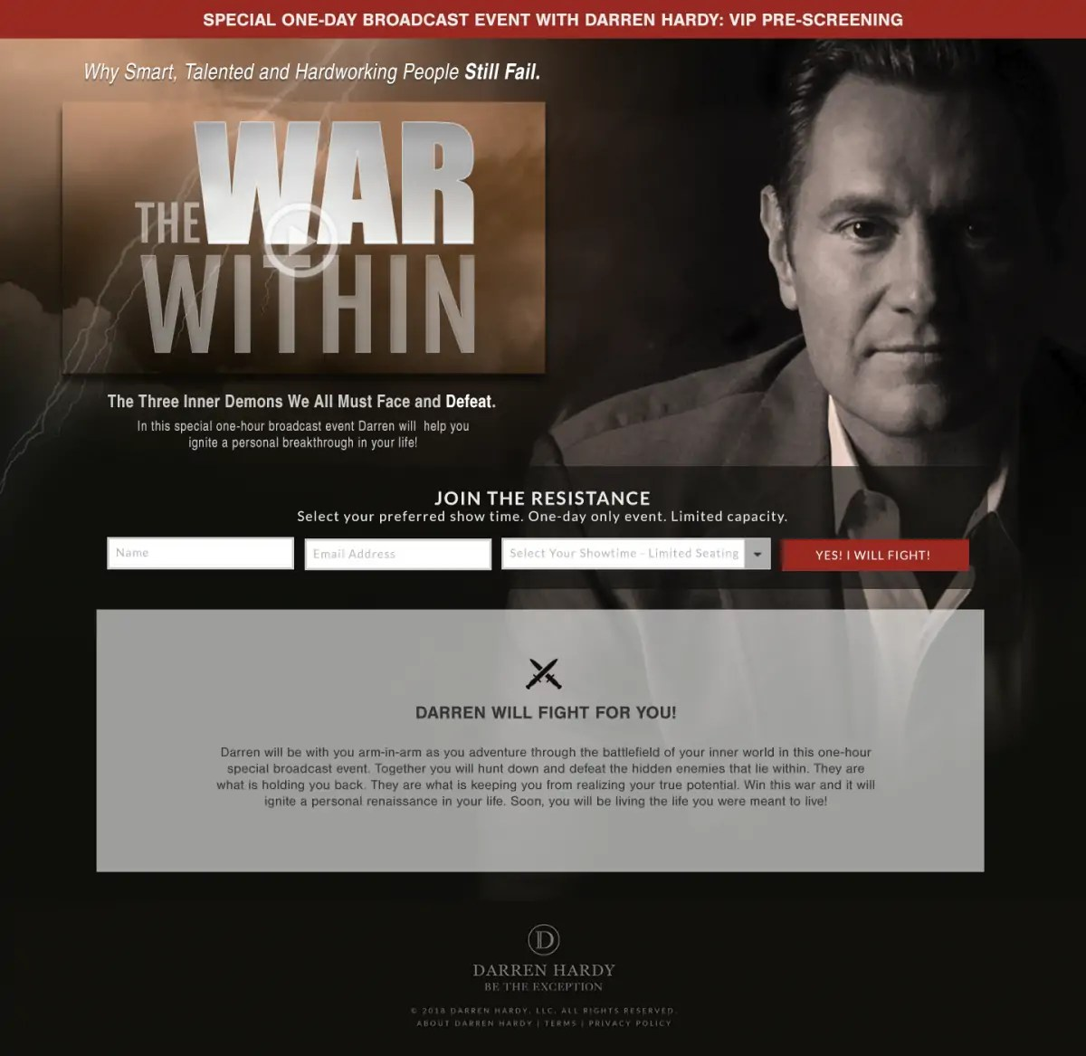 Darren Hardy's War Within
