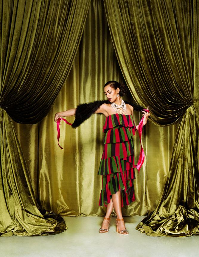 spring fashion ruffle dress