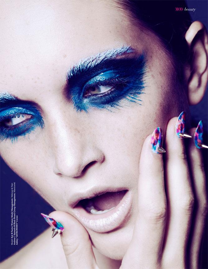 Blue Make Up Beauty Portrait