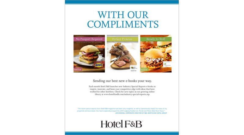 House Ad for Hotel F&B Magazine
