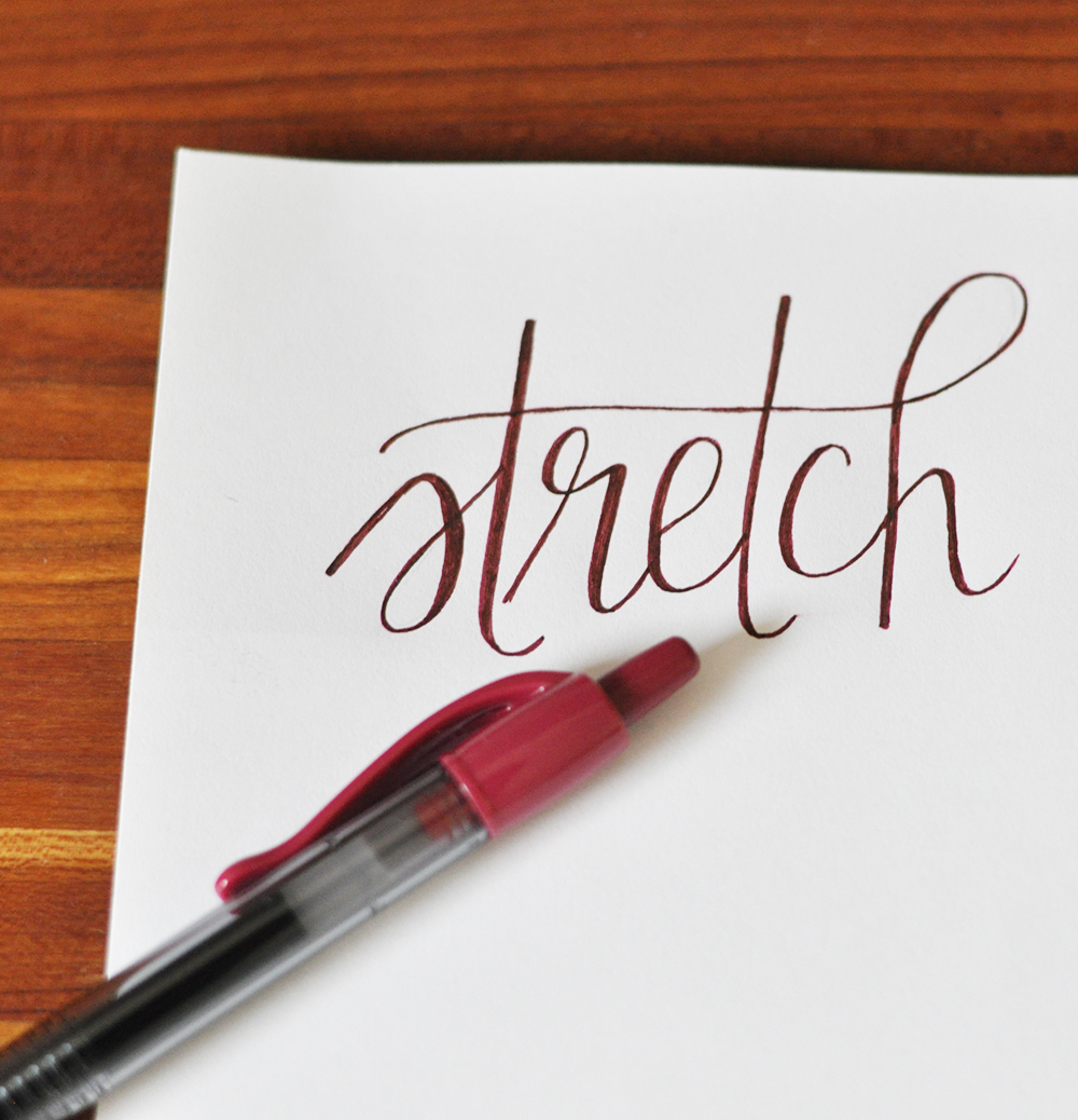 a simple faux calligraphy tutorial featuring Pilot G2 pens at Target