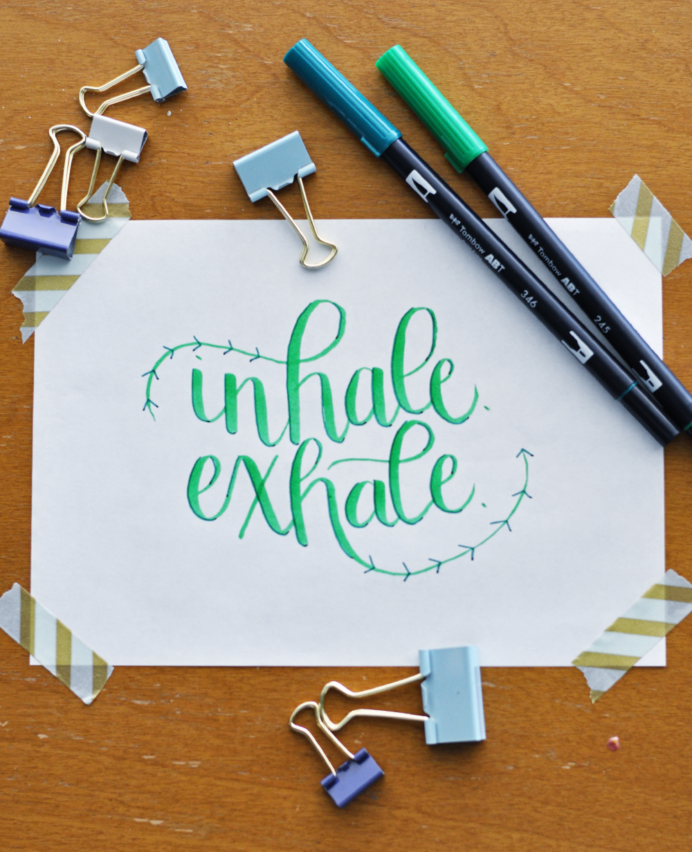 inhale. exhale. focus on breathing well to get through this stressful moment.