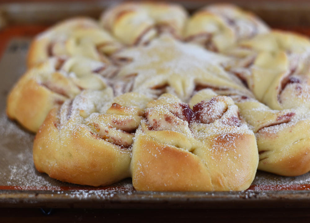 Christmas cranberry star bread recipe
