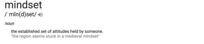Definition of mindset