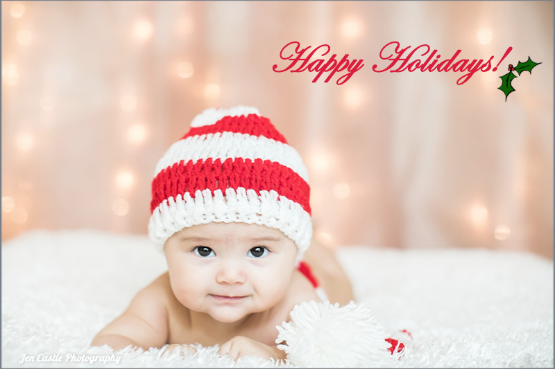 Baby's First Portrait {Happy Holidays}