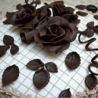 Как сделать розы из шоколада