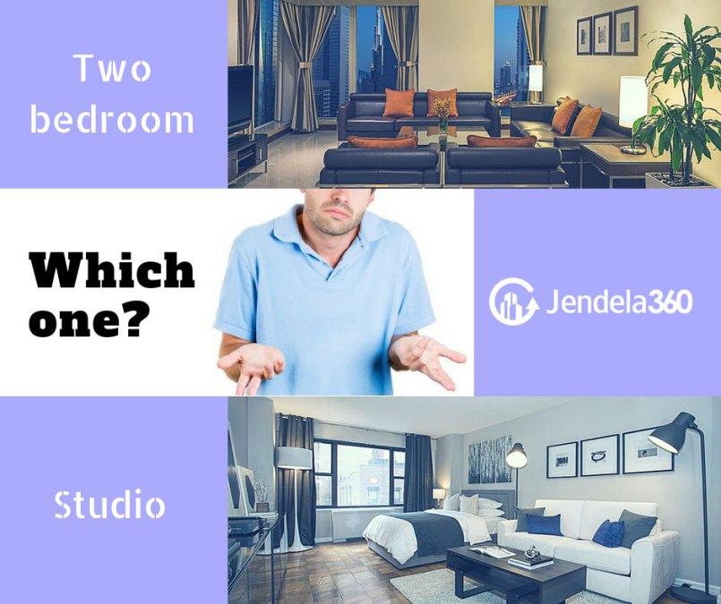 Pilih Apartemen Dua Kamar Atau Studio? Lihat Dulu Kelebihannya Masing-Masing