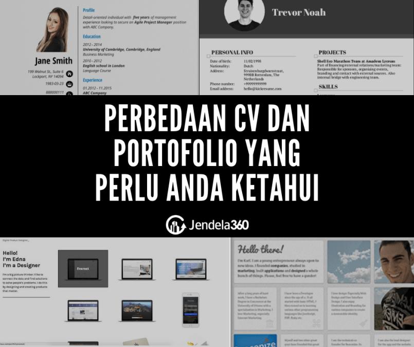 Perbedaan CV dan Portofolio yang Perlu Anda Ketahui, Lengkap Beserta Contoh!