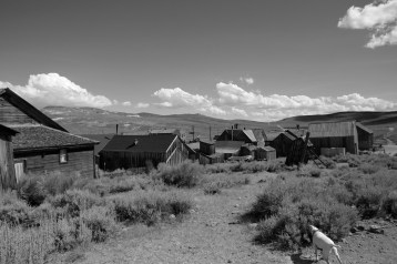 Ghost town in Bodie Hills. California.